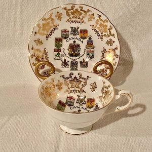 Vintage Paragon Teacup and Saucer Canada Emblem